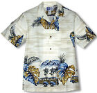 Monstera Leaf Woody Men's Vintage aloha Shirt made in Hawaii