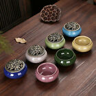 Retro Ice Crack Glaze Ceramic Incense Holder Censer Bronze Incense Burner PSHG