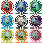 Ying Yang Numbered Laser Poker Chips, 11g ABS Composite, Supplied in Rolls of 50