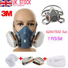 3M 6200/7502 Respirator Painting Spray Dust Mask 6001 Organic Vapor Cartridges #
