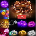LED BATTERY OPERATED MICRO WIRE STRING FAIRY LIGHT XMAS WEDDING PARTY HOME DECO