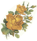Golden Yellow Rose Flower Select-A-Size Waterslide Ceramic Decals Bx  image
