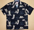 Polynesian Vintage Sailboat Men's vintage aloha Shirt   made in Hawaii