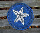 ROUND STARFISH Primitive Rug Hooking Kit with #8 cut wool strips