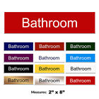 Bathroom Engraved Care Home Hotel Door Sign + FREE CHOICE OF COLOURS 2 x 8 inch