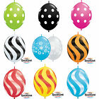 Pack of 10 Quick Link Printed Qualatex Latex Balloons Linking Garland Decoration