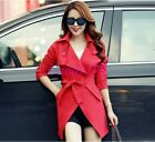Trendy Womens Fashion Golilla Casual Slip Fit Belts Ball Gown Trench Jacket Coat