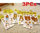 Rilakkuma San-X Relax Bears Stickers For Home Stationery Moblie 3PCs ☆
