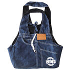 Dog Cat Carry Bag Denim Carrier Upscale Small Pet Puppy Backpack 2 colours