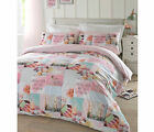 #Bedding Pretty Pastels Novelty Pink Happy Girls Quilt Duvet Cover Set