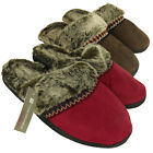 Womens Faux Suede Furry Eskimo Slipper Ladies Mule Slippers Size UK 3 4 5 6 7 8