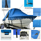 Boston+Whaler+Justice+19+CC+Fishing+T%2DTop+Hard%2DTop+Boat+Cover+Blue