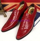 New Men's Dress Formal patent leather Lace up pointy toe Oxfords Casual Shoes