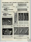 1955 PAPER AD Sterling Silver Pull Ball Pocket Knofe Knives Cigar Cutter Coin