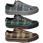 Converse All Star Chuck Taylor Plaid Slip On Grey Green Brown Trainers
