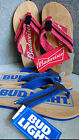 NWT, $24. MSRP  Mens Bud Light / Budweiser Flip Flop Sandals