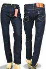 new! LEVI'S Jeans 502 Rinsed Chain Dark blue Comfort Fit + high waist