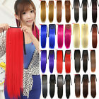Fashion Women Cosplay Long Straight Drawstring Colorful Ponytail Hair Extensions