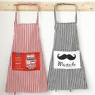 Lady Womens Cute Cartoon Kitchen Restaurant Bib Cooking Dress Apron With Pocket
