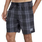 Speedo Mens Checked Swimming Swim Summer Beach Water Pool Shorts - Blue / Black