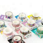 DIY Floral Washi Sticker Decor Roll Paper Masking Adhesive Tape Crafts Gifts New