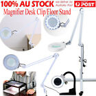 New Magnifying Lamp Glass Lens Round Head LED Magnifier Desk Clip/Floor Stand DH
