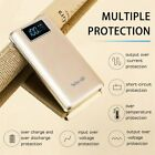 100000mAh Backup Battery 2 USB LCD External Charger Power Bank For Cell Phone