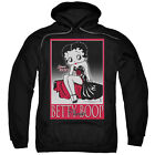 Betty Boop Classic Mens Pullover Hoodie Black $45.75 USD