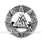 Men's Jewelry 316L Stainless Steel Valknut knot Wide Finger Ring Gothic US9-13
