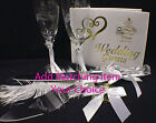 Light house LOT Wedding Glasses and Knife and Server OR Guest Book and pen set