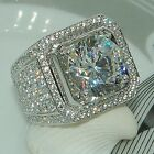Fashion 925 Silver Princess Cut White Sapphire Ring Wedding Engagement Jewelry