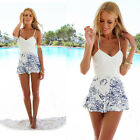 New Women's Summer Beach Dress Printed Sleeveless Evening Party Short Mini Dress