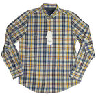 Mens Ben Sherman Plectrum Mod Regular Fit Blue Check Print Shirt