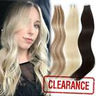 Virgin 20/40pcs Tape in 100% Remy Human Hair Extensions Skin Weft AU Stock