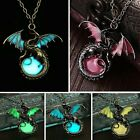 Vintage Punk Glow In The Dark Dragon Pendant Necklace Fashion Jewellery Gifts
