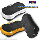 600W Vibrating Plate Home Fitness Exercise Yoga Pilates Workout+Roller Wheels AU