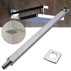 "24"" 60cm Square Chrome Wall Mounted Shower Extension Arm For Rain Shower Head"
