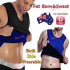 Slimming Mens Neoprene Vest Sauna Sweat Shirt Body Shapers Gym Weight Loss Fat