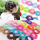 100PCS Lot Women Girl Elastic Rubber Hair Ties Band Rope Ponytail Holder Fashion