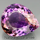 GIANT! 28.11 ct.NATURAL GEM TOP BI-COLOR AMETRINE UNHEATED Pear 22x19 MM.GOOD!