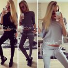 New Fashion Women Causal Long Sleeve Top and Loose Pants Tracksuit B20E02