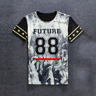 Fashion New Men Printed Number 88 Short Sleeve Slim T-shirts Casual Funny Tops