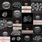 ROUND CLEAR DOME GLASS CABOCHONS 10/25/50 - 6/8/10/12/14/16/18/20/22mm FLATBACK