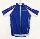 """""""HighCycle"""" Short SLEEVE Cycling JERSEY in Blue Made by MSTina"""