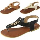 Women's T-Strap Elastic Slingback Strappy Gladiator Sandals Thongs Flat Shoes