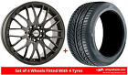 Alloy Wheels & Tyres 17'' Calibre Motion For Nissan Sunny [Mk6] 85-90