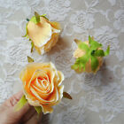 Artificial Flowers 6CM Rose Head Use For Wedding Home Decoration DIY 10 Colors