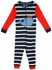 Boys Baby Toddler Whale Motif Stripe Zip Sleepsuit Romper 12 to 36 Months