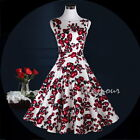 50s Hepburn Style Birthday Party Prom Vintage Rockabilly Pinup Swing  Dress