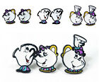 1 Pair New Beauty and the Beast Earrings Mrs Potts Teapot Earring Charms Earring